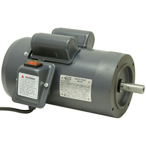 1 Hp 3450 Rpm 115 Volt Ac 143tcx Frame Tefc Techtop Motor With Cord 10 2902