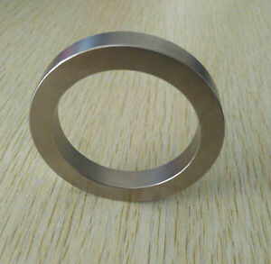 Strong Uni Pole Radial Oriented Ring Sintered Neodymium Magnets Diameter 2 N40