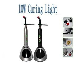 2 Colors Dental 10w Wireless Curing Light Led Cure Lamp Metal Handle 2000mw m2