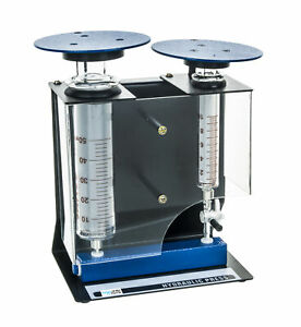 Hydraulic Press With Borosilicate Glass Cylinders