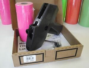 Monarch 1110 Price Gun With Pink Labels 1 Sleeve 17m 1110 Price Gun