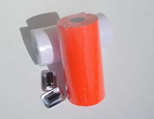 2 Sleeves 1131 Red And White For Monarch Price Gun 1 Each Color 2 Ink Rollers