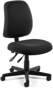 Office Medical Computer Task Chair In Black Stain Resistant Fabric clinic Chair
