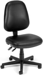 Anti bacterial Medical Office Task Chair In Black Vinyl Lab Clinic Chair