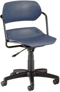 Medical Office Plastic Task Chair In Navy Finish clinical Office Compute