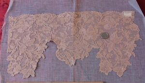 Large Vintage French Lace Applique Iris Lingerie Women Sclothing Sewing 9 Lx17 W
