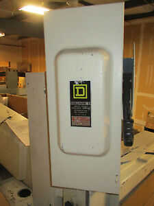 Square D H323n 100 Amp 240v Fusible 3 Phase Disconnect F Series Painted White