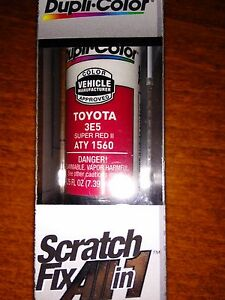 Toyota 3e5 Super Red 2 Ii Dupli Color All In 1 Scratch Touchup Paint Fix Aty1560