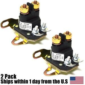 2 Relay Solenoid For Western Fisher Meyers Snowplows Universal 4 Post Plow