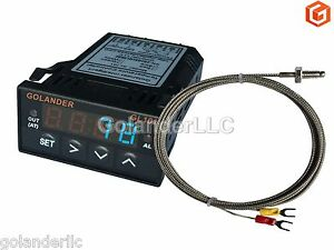Universal 1 32din Digital Pid Temperature Controller Blue With K Thermocouple