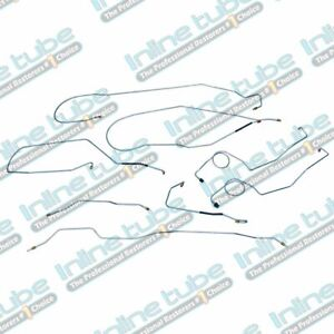 1967 70 F250 Ford Truck 2wd Longbed Power Drum Brake Line Set Stainless
