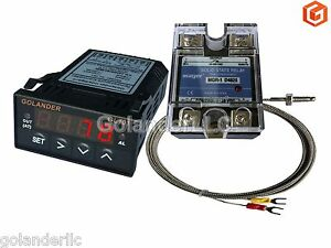 Universal 1 32din Pid Temperature Controller Red 25a Ssr K Thermocouple