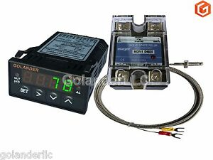 Universal 1 32din Pid Temperature Controller Green 25a Ssr K Thermocouple
