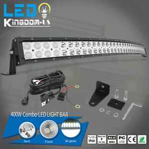 4d 42inch 400w Curved Led Light Bar Flood Spot Combo Off Road Truck 4wd For Jeep