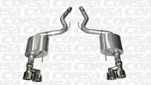 2015 2016 Mustang Gt 5 0 Corsa Sport Axle back Polished Quad 4 Tips New