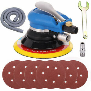 6'' Air Body Random Orbital Palm Sander DA Buffing Sanding 6 Discs 150mm Auto