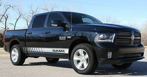 09 14 Dodge Ram New Rocker Strobe Vinyl Stripes Graphic Kit