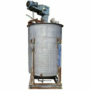 Used Stainless Steel Mix Tank 1 650 Gallon