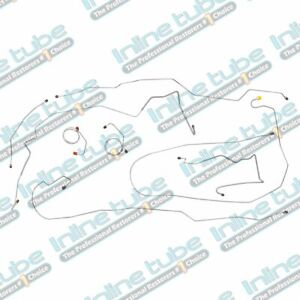 1975 Ford Truck F100 F150 Power Disc 2wd Long Bed Brake Line Set Oe Steel