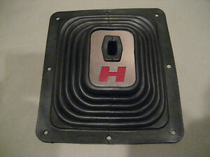 Custom Red H Rubber Floor Hurst Super Boot For Chrome Shifter Sticks No Trim