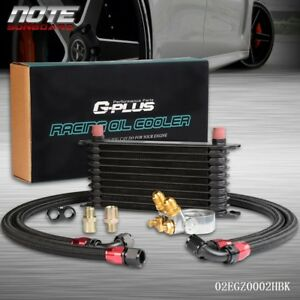 Gplus 10 Row Thermostat Adaptor Engine Racing Oil Cooler Kit For Car Truck Bk