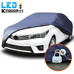 Full Car Cover Waterproof Rain Snow Heat Dust Sun Uv Resistant Protection W Lock
