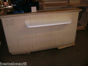 Kiosk Retail Counter Blonde W Front Shelf 1026 75 X 35 X 42