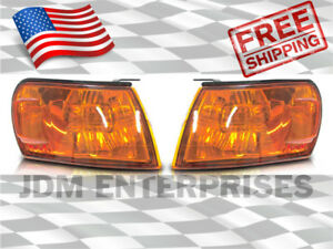 New Corner Lights Toyota Corolla 1993 1997 Ae100 Ae101 Jdm Amber Orange Pair