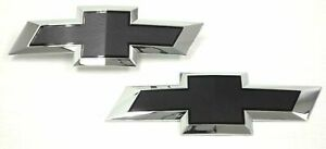 2016 2019 Chevy Silverado 1500 Zr2 Colorado Oem Black Bowtie Emblems New