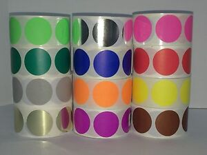 12 Rolls 2 Round Color Coded Inventory Dot Sticker 500 Labels Each Color 1
