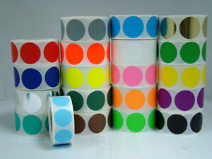 20 Rolls Round 1 1 2 Color Coding Inventory Sticker Dot 500 Labels Each Roll