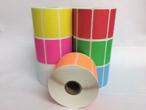 7 Rolls One Roll Per Color 2 25x1 25 Direct Thermal 1000 Labels P r Zebra 2824