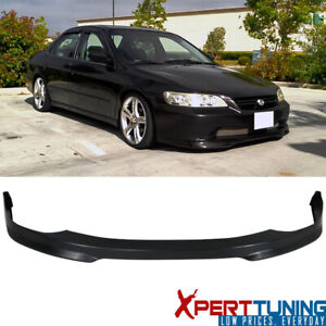 Fit 98 99 00 01 02 Honda Accord 4dr 4door T r Front Bumper Lip Spoiler Add On Pp