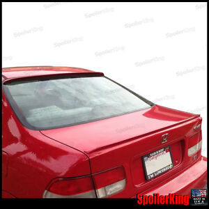 Combo Spoilers Fits Honda Civic 1996 00 2dr Rear Roof Wing Trunk Lip