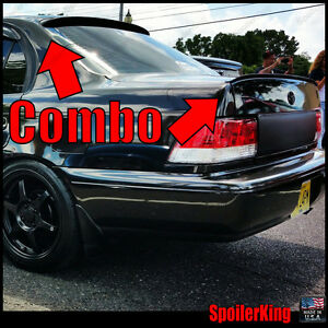 Combo Spoilers fits Toyota Corolla 1993 97 4dr Rear Roof Wing