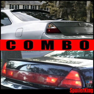Combo Spoilers fits Accord 1998 02 2dr Rear Roof Wing Trunk Lip 284r 244l