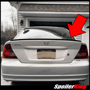 Rear Trunk Lip Spoiler Wing fits Honda Civic 2001 05 2dr Spoilerking 244l