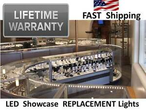 Lifetime Warranty Jewelry Pawn Antique Showcase Display Case Lights Led