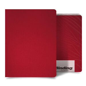 New Red 16mil Sand Poly 8 75 X 11 25 Binding Covers 25pk Free Shipping