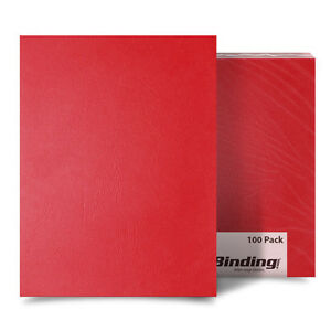 New Red Grain 8 5 X 14 Legal Size Binding Covers 100pk Free Shipping