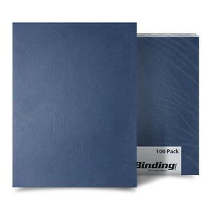 New Navy Grain 5 5 X 8 5 Half Size Paper Binding Covers 100pk Free Shipping