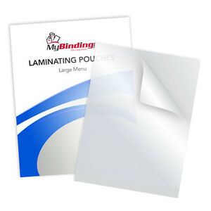 New 3mil Matte Matte Large Menu Laminating Pouches 12 X 18 100pk