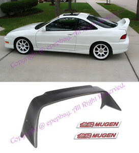 Fit 94 01 2drs Integra Dc2 Jdm Mugen Gen 1 Style Abs Spoiler Wing W Red Emblem
