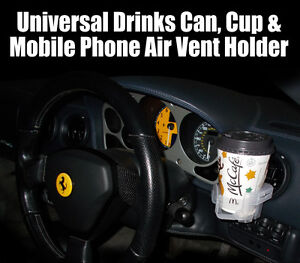 Drink Can Coffee Cup Mobile Phone Car Air Vent Holder Cooler Keep Warm Hot