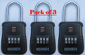 Pack Of 3 Lockbox Key Lock Box For Realtor Real Estate 4 Digit