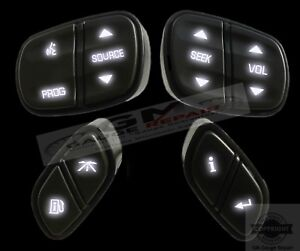 Gm Chevrolet Steering Wheel Switches Controls Buttons New With White Led S 4pc