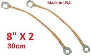 2 Pack New Universal 8 20cm Copper Ground Bonding Strap Strip Kit Usa Made