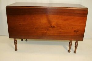 Solid Walnut Federal Drop Leaf Dining Table 19th Century Two Available
