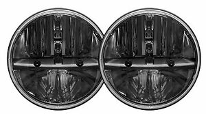 Truck Lite Rigid 55004 Pair 7 Round Heated Lens Led Headlights W Pwm Adapter