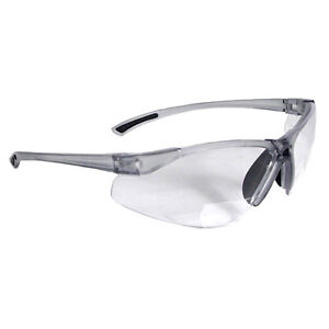 Radians C2 115 Bi focal Clear Safety Reading Glasses W 1 5 Diopter 6 pack
